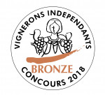 Medaille Bronze Vignerons 2018
